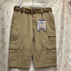 Plugg Messenger Short w Belt 31 waist BTK NWT